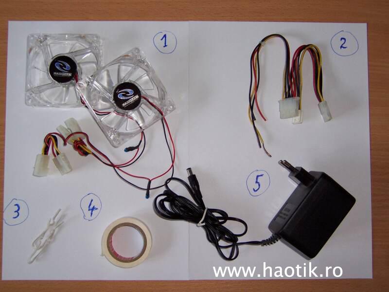 Componente necesare mini-ventilator