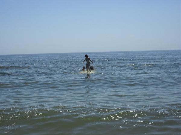 calare pe barca rasturnata