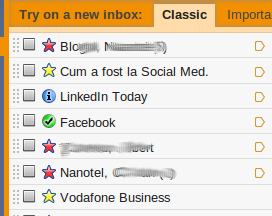gmail stars inbox