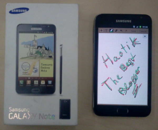 Samsung Galaxy Note Haotik