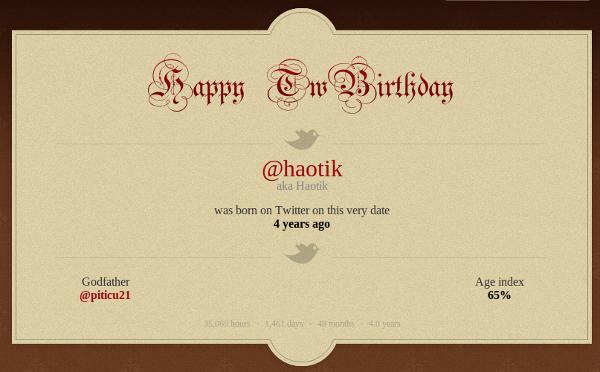 Haotik 4 ani twitter