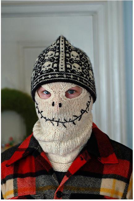 Skeleton knitted balaclava
