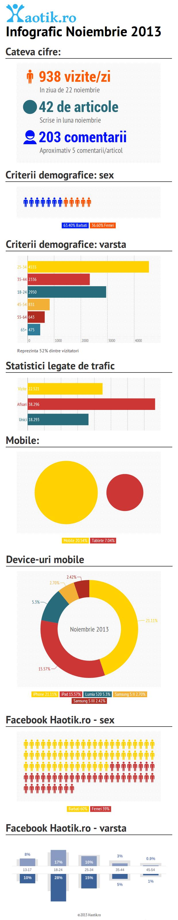 Infografic Haotik.ro Noiembrie 2013
