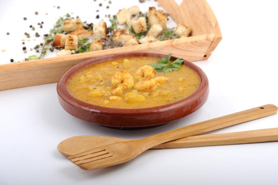 Supa de mango cu creveti